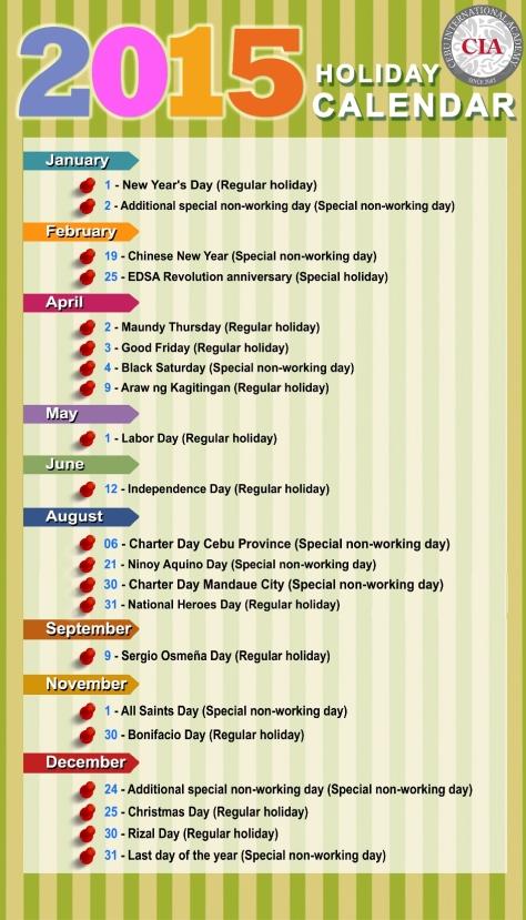 MICE Philippines Schedule 2015