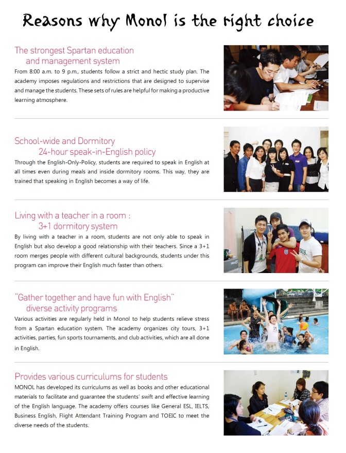 Tại sao nên chọn học tiếng Anh tại trường Monol – Baguio