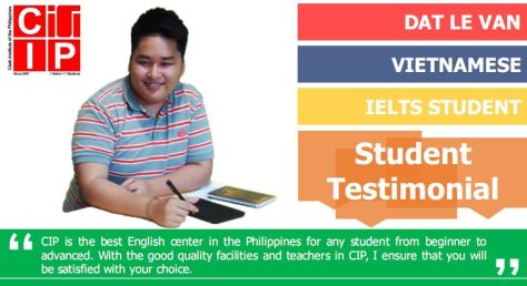 Le Van Dat IELTS student at CIP school