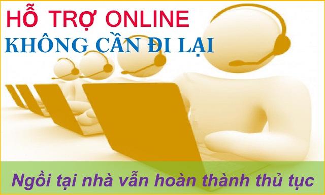 Hỗ trợ online - Không cần đi lại
