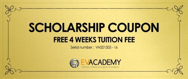 Coupon miễn phí 4 tuần học phí tại Trường EV – Cebu