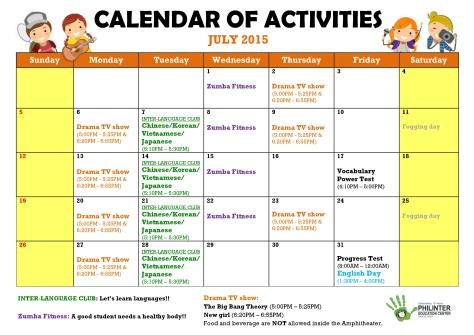 Philinter Activities calendar_Jul.2015