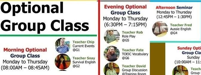 Các lớp học nhóm tùy chọn với giáo viên bản ngữ tại CIP