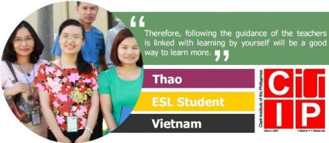 Thao we love CIP and study English in the Philippines