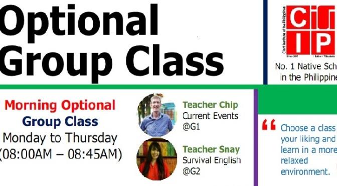 Các lớp học nhóm với giáo viên bản ngữ tùy chọn tháng 9 tại CIP