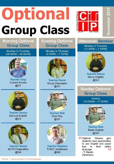 CIP optional group class nov