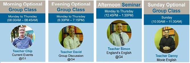 CIP: Lịch hoạt động và lớp học nhóm tùy chọn tháng 11