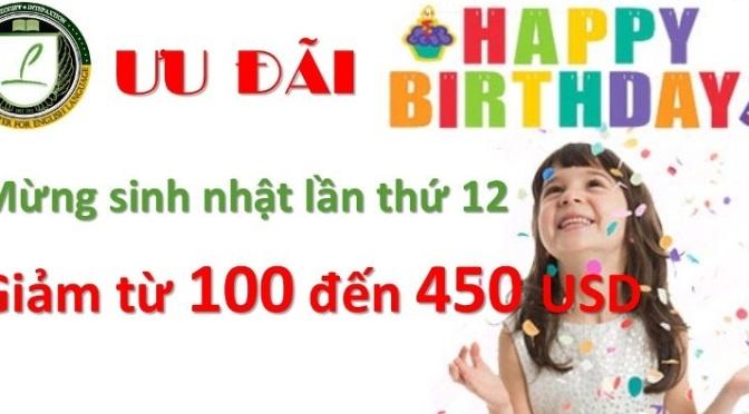 Ưu đãi hỗ trợ học phí mừng sinh nhật Philinter