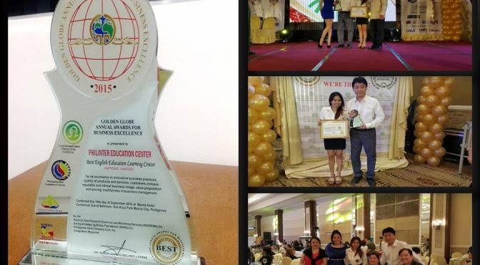 Trường Philinter nhận Best English Education Learning Center Award