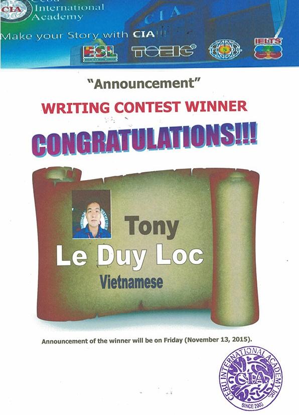 CIA: Học viên Việt Nam đoạt giải nhất Cuộc thi viết tiếng Anh