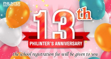 Philinter 13th year anniversary promotion