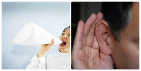 Nghe thật kỹ và nói thật to
