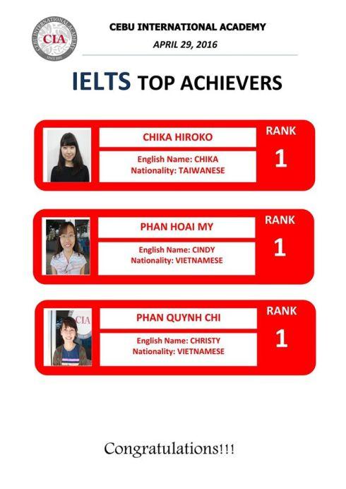 Học viên Việt Nam đạt Top IELTS ở trường CIA, Philippines