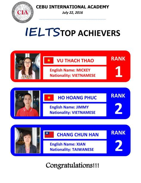 CIA - Top IELTS 22 July