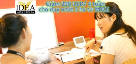 IDEA uu dai giam 50 usd tuan MICE