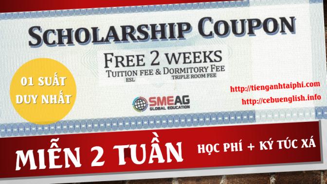 01 suất miễn 2 tuần học phí + KTX tại Trường SMEAG khi du học tiếng Anh Phils