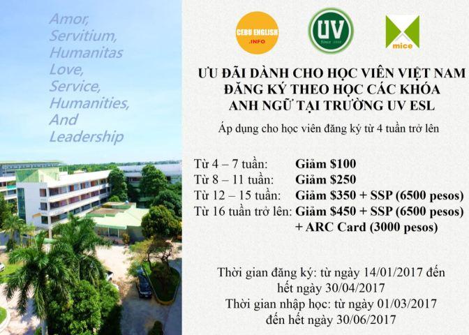 Trường UV: Ưu đãi đầu năm 2017, thêm phòng KTX 4 người và học phí năm 2017