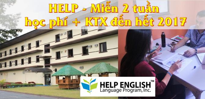 Trường HELP: Học bổng miễn 2 tuần học phí + KTX đến năm 2017
