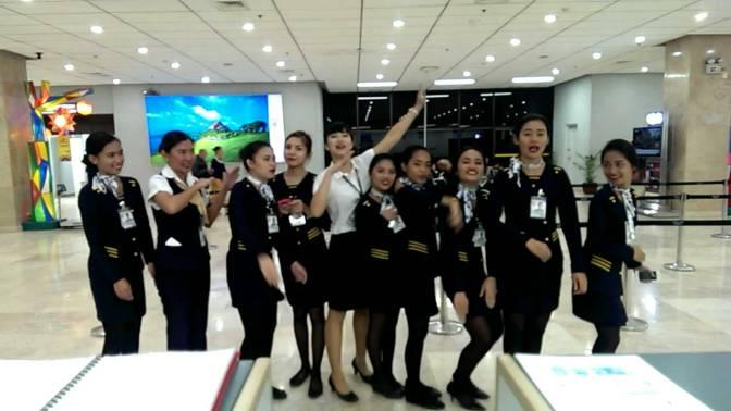 Trường UV: phỏng vấn học viên khóa Global Internship thực tập tại sân bay