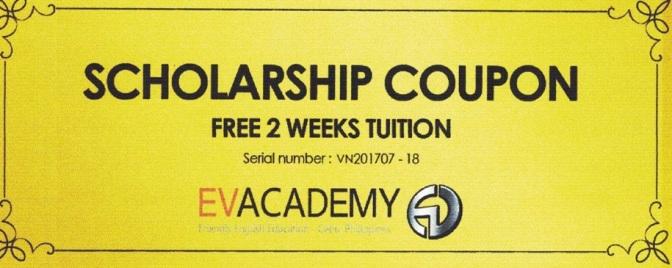 20 coupon giảm 2 tuần học phí các trường hàng đầu Cebu & Baguio