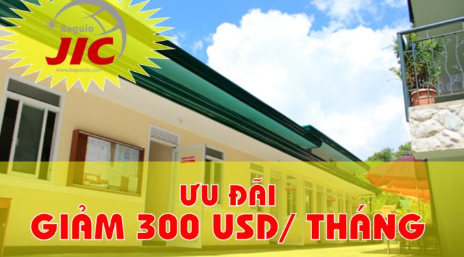 Trường JIC Baguio: học bổng ưu đãi giảm 300 USD mỗi 4 tuần