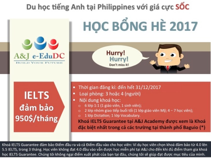 Chương trình IELTS và chất lượng giảng dạy Trường A&J – Baguio