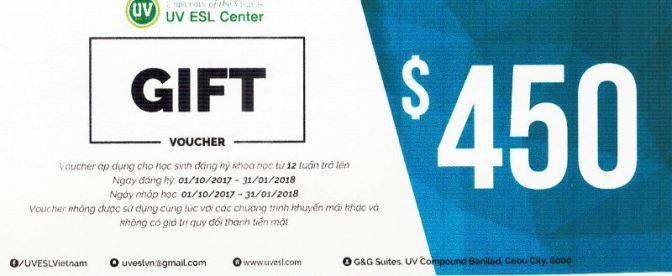 UV: chỉ 3 voucher ưu đãi 150, 300 và 450 USD cho học viên đăng ký sớm