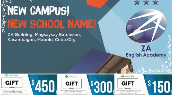 UV ESL: Cơ sở mới Mabolo Campus và đổi tên thành ZA English Academy