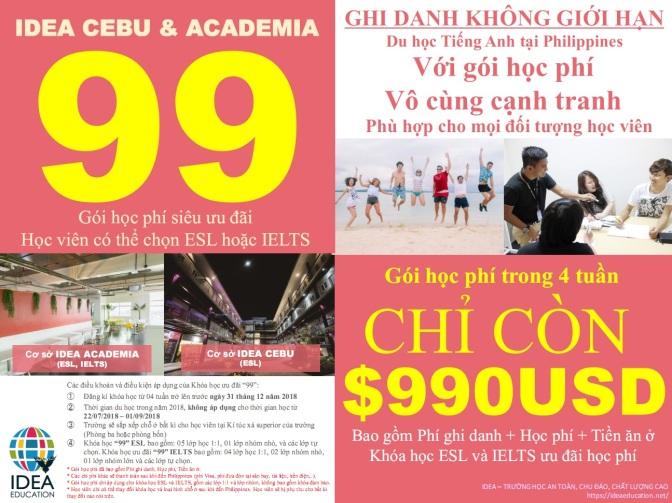 Tổng hợp trường với học bổng chỉ 990 USD học phí + KTX. Cơ hội du học tiếng Anh đây rồi!