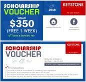 Voucher ưu đãi giảm 1 tuần học phí + KTX