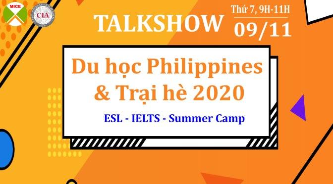 """MICE tổ chức talkshow với chủ đề: """"Du học Philippines & Trại hè 2020"""" cùng đại diện Trường CIA"""