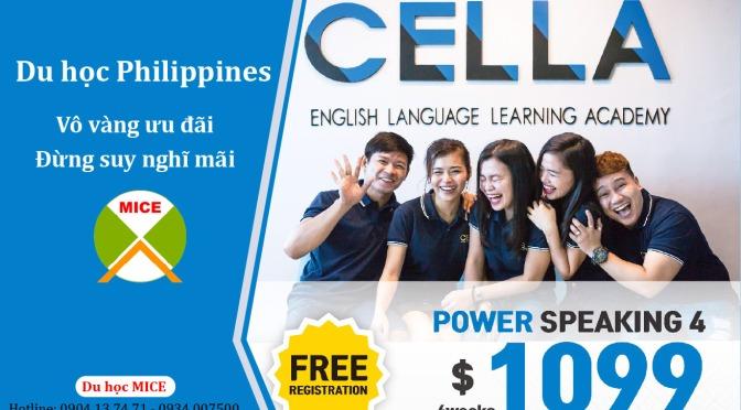 Du học Philippines 1 tháng chỉ 1.099 USD tại Trường CELLA
