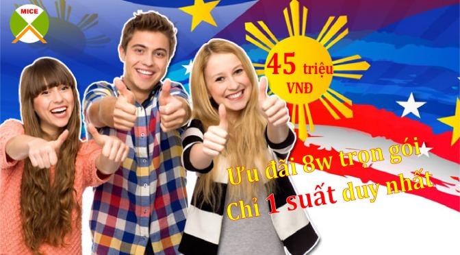 Học phí du học philippines trọn gói chỉ 45 triệu cho 8 tuần học